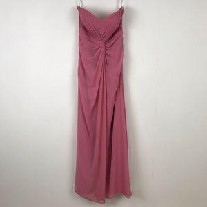 Bill Levkoff Strapless Formal Bridesmaid Dress